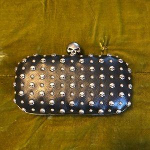 Harley-Davidson skull studded clutch/crossbody bag